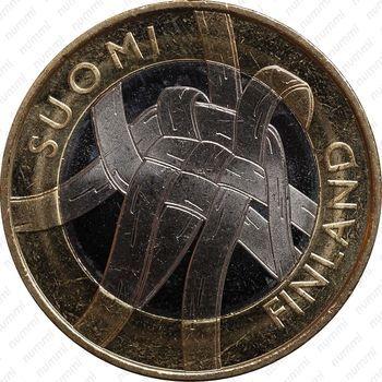 Медно-никелевая монета 5 евро 2011, Карелия (аверс)