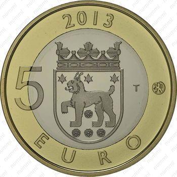 Медно-никелевая монета 5 евро 2013, церковь Святого Лаврентия (реверс)