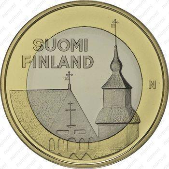 Медно-никелевая монета 5 евро 2013, церковь Святого Лаврентия (аверс)