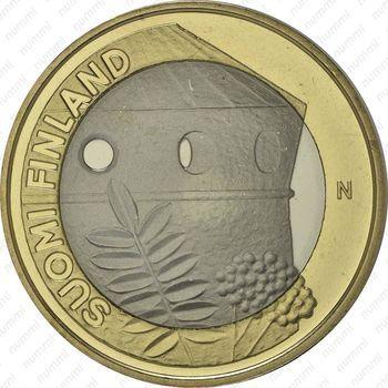 Медно-никелевая монета 5 евро 2013, крепость Олафсборг (аверс)