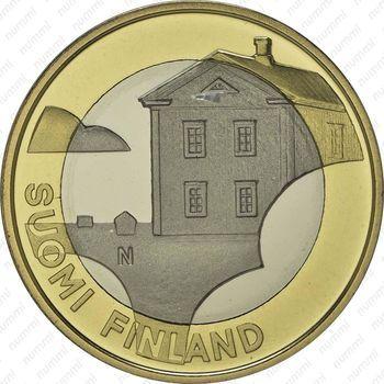 Медно-никелевая монета 5 евро 2013, дом (аверс)