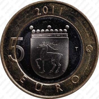 Медно-никелевая монета 5 евро 2011, Аландские острова (реверс)