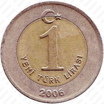 1 новая лира 2006 - Реверс