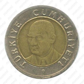 1 новая лира 2007 - Аверс