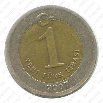 1 новая лира 2007 - Реверс