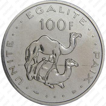 100 франков 1997 - Реверс