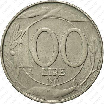 100лир 1997 - Реверс