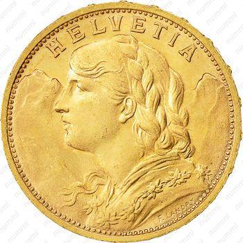 20 франков 1927 - Аверс