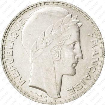20 франков 1929 - Аверс