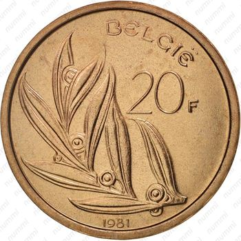 20 франков 1981 - Реверс