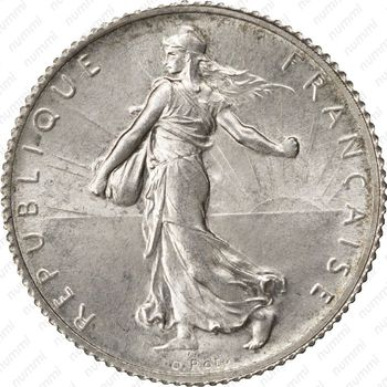 1 франк 1920, серый цвет - Аверс