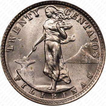 20 сентаво 1929 - Реверс