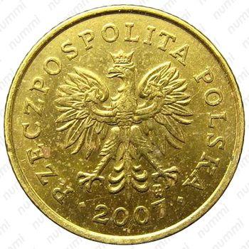 1 грош 2007 - Аверс
