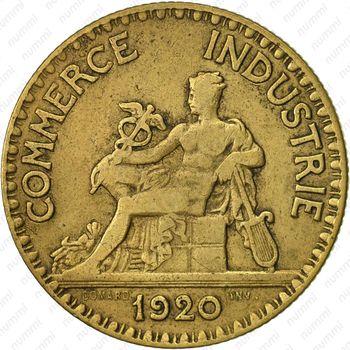 2 франка 1920, желтый цвет - Аверс