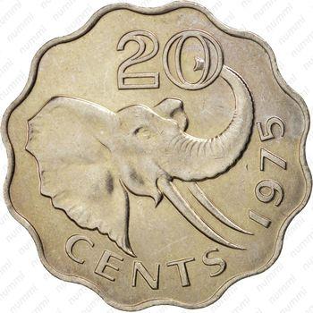 20 центов 1975 - Реверс