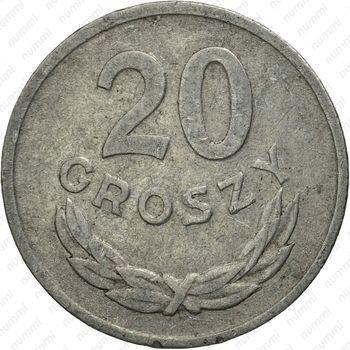20 грошей 1968 - Реверс
