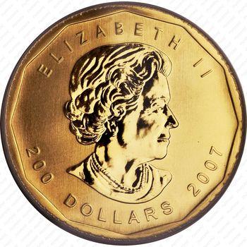200 долларов 2007, Канада - Аверс