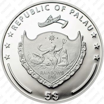 5 долларов 2014, Нотр-Дам Палау - Аверс