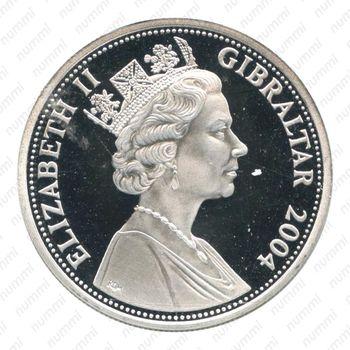 5 фунтов 2004, Гибралтар - Аверс