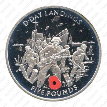 5 фунтов 2004, Гибралтар - Реверс