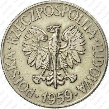 10 злотых 1959, Костюшко - Аверс