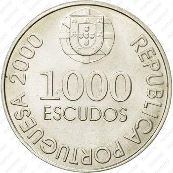 1000 эскудо 2000, Жуан де Каштру - Аверс
