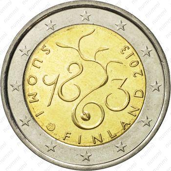 2 евро 2013, парламент Финляндия - Аверс