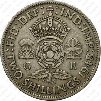 2 шиллинга 1948 - Реверс