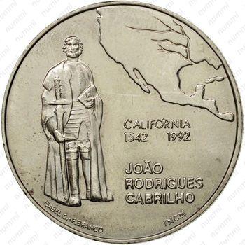 200 эскудо 1992, Калифорния - Реверс