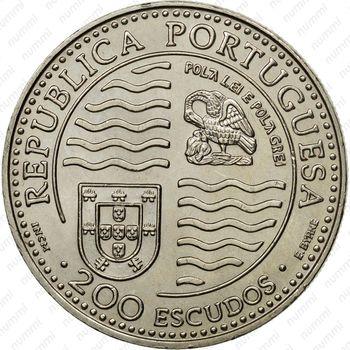 200 эскудо 1994, Жуан II - Аверс
