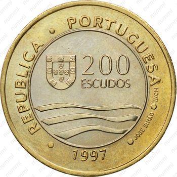 200 эскудо 1997, ЭКСПО - Аверс