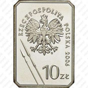 10 злотых 2006, всадник - Реверс
