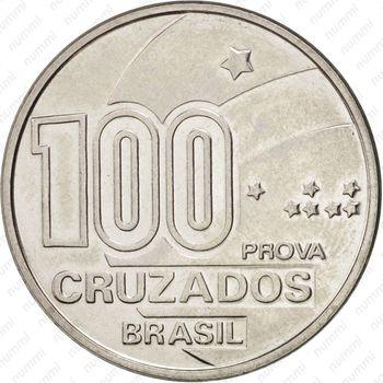 100 крузадо 1988, мужчина - Реверс