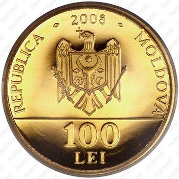 100 леев 2008, Молдова - Аверс