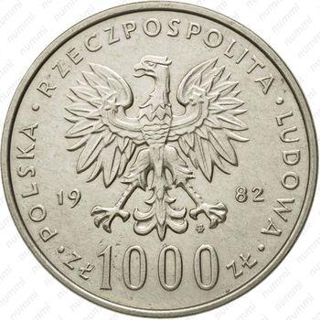 1000 злотых 1982 - Аверс