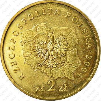 2 злотых 2004, Куявско-Поморское воеводство - Аверс