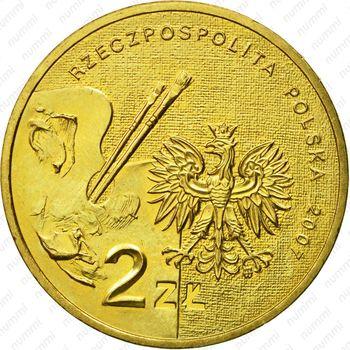 2 злотых 2007, Леон Вычулковский - Аверс