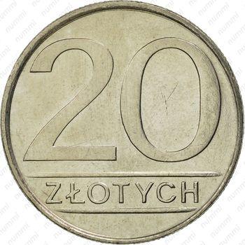 20 злотых 1985 - Реверс