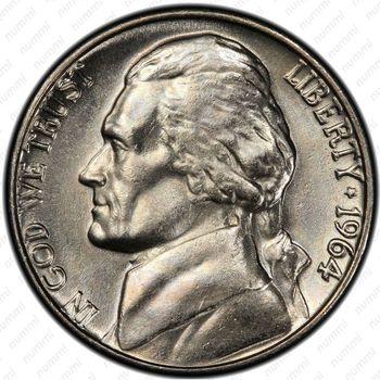 5 центов 1964, Томас Джефферсон - Аверс