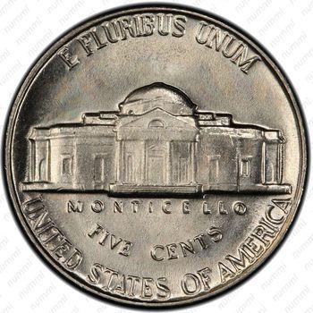 5 центов 1964, Томас Джефферсон - Реверс