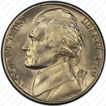 5 центов 1979, Томас Джефферсон - Аверс