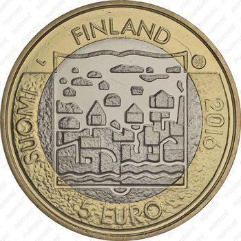 Медно-никелевая монета 5 евро 2016, Каарло Юхо Стольберг (аверс)