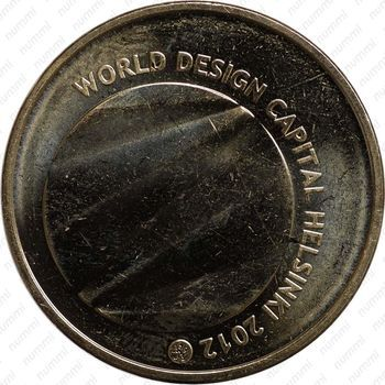 Медно-никелевая монета 5 евро 2012, Хельсинки (реверс)