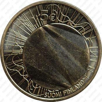 Медно-никелевая монета 5 евро 2012, Хельсинки (аверс)