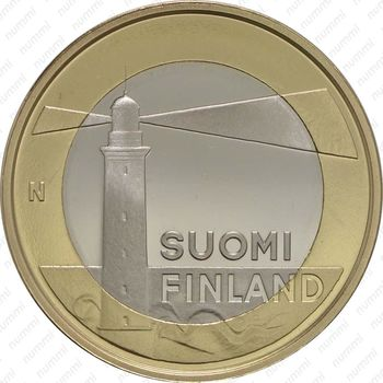 5 евро 2013, маяк острова Сельскер - Аверс