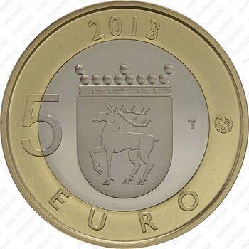 5 евро 2013, маяк острова Сельскер - Реверс