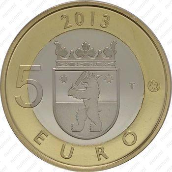 5 евро 2013, некрополь Саммаллахденмяки - Реверс