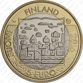 5 евро 2016, Каарло Юхо Стольберг - Аверс
