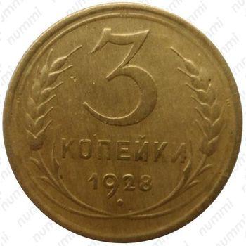 3 копейки 1928, перепутка - Реверс