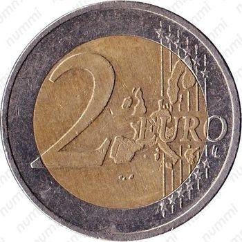 2 евро 2002, регулярный чекан Германии - Реверс